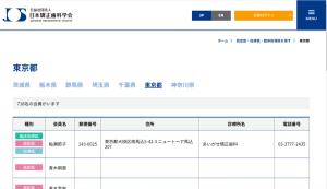 東京都の日本矯正歯科学会認定医を検索するならこちらから